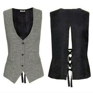 L'agence houndstooth vest
